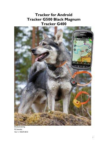 Tracker Hunter Android manual svensk