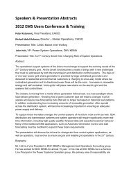 Speakers & Presentation Abstracts 2012 EMS Users Conference ...