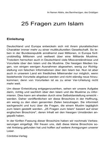 25 Fragen zum Islam - Way to Allah