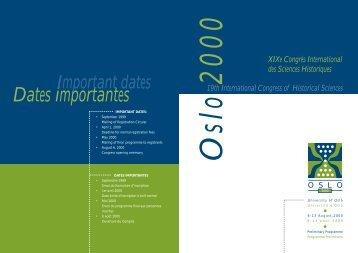 Programme - Oslo 2000
