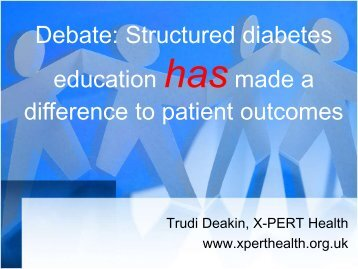 Structured diabetes education has made a difference to patient ...