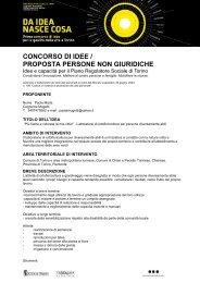 CONCORSO DI IDEE / PROPOSTA PERSONE NON GIURIDICHE