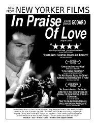 IN PRAISE OF LOVE.flyer - New Yorker Films