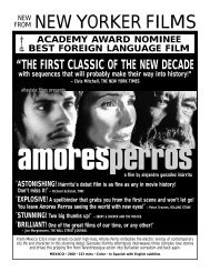 AMORES PERROS.flyer - New Yorker Films