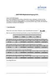 QUETHEB-Mitgliederbefragung 2010