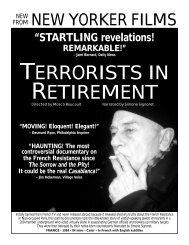 TERRORISTS IN RETIREMENT - New Yorker Films