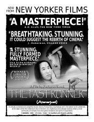 FAST RUNNER.flyer - New Yorker Films