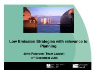 Low Emission Strategies with relevance to Planning - IAPSC