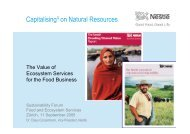 Presentation PDF - The Sustainability Forum