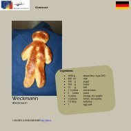 Weckmann - Comenius Multilateral - Healthful Flavours from Europe