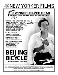 BEIJING BICYCLE - New Yorker Films