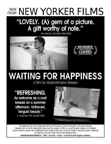 waiting for happiness - New Yorker Films