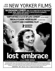 lost embrace - New Yorker Films