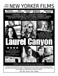 LAUREL CANYON.flyer - New Yorker Films