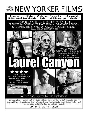 LAUREL CANYON.flyer - New Yorker Films