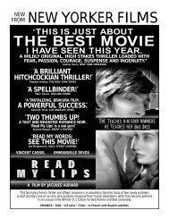 READ MY LIPS.flyer - New Yorker Films