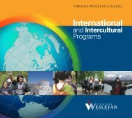 OIP brochure - Virginia Wesleyan College