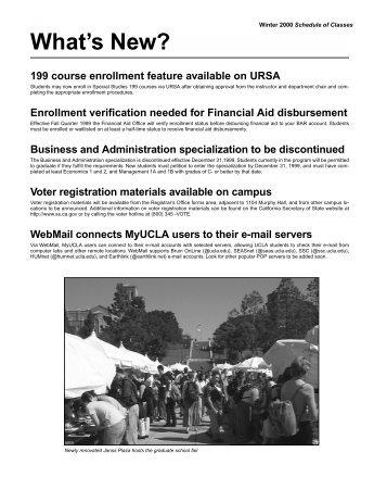 W - Registrar - UCLA