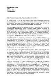 Pastors Thomas Quadt - St. Franziskus Bochum-Riemke