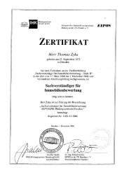ZERTIFIKAT - FinanzConsult Immobilien GmbH