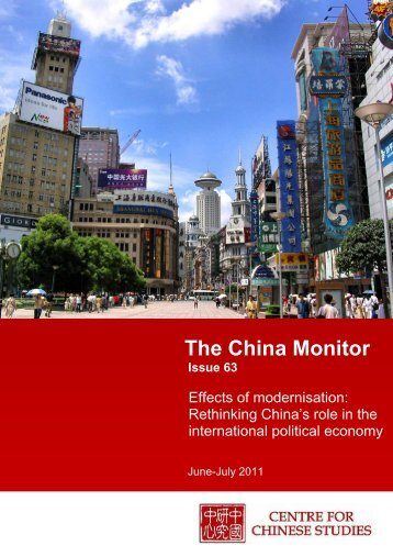 You can read/download Issue 63 of the China Monitor here