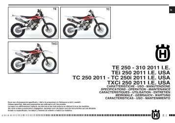Owner's Manual 2011 TE/TC/TXC 250/310 - Husqvarna
