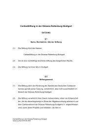 CaritasStiftung in der Diözese Rottenburg-Stuttgart