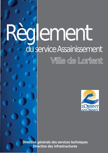 Télécharger le règlement d'assainissement - Lorient