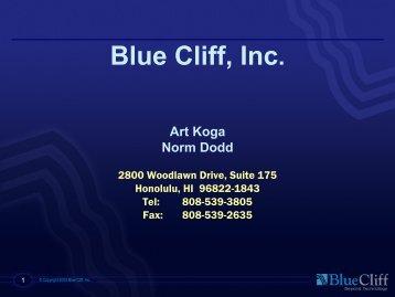 Blue Cliff, Inc. - WorldVistA