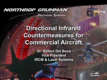 Directional Infrared Countermeasures for Commercial Aircraft ...