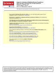 Holman et al (2010) - Astronomy and Astrophysics at the University ...