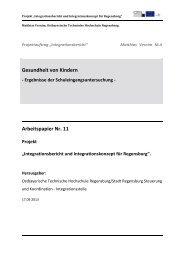 Gesundheit von Kindern - Ostbayerische Technische Hochschule ...