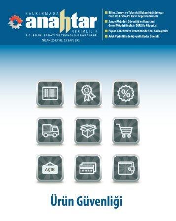 Nisan 2013 Sayı:292 - Verimlilik Genel Müdürlüğü - Bilim, Sanayi ve ...
