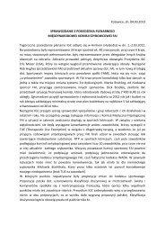 Sprawozdanie z konferencji IGC 2013 - Arnhem - Komisja ...