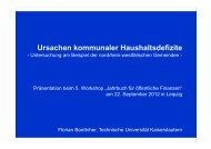 Böttcher: Ursachen kommunaler Haushaltsdefizite