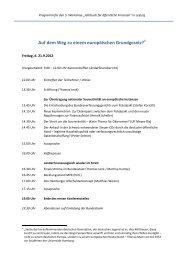 Programm für den 5. Workshop