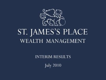 INTERIM RESULTS July 2010