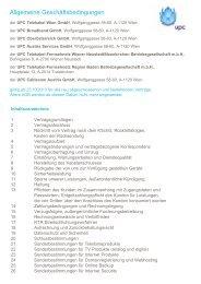 AGB für Kabel-Produkte (Stand 23.10.2013) - Upc