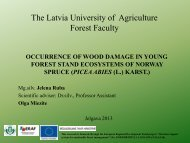 The Latvia University of Agriculture Forest Faculty - maplas