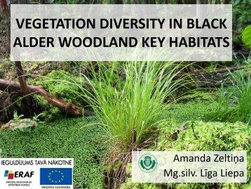 vegetation diversity in black alder woodland key habitats - maplas