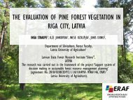 The Evaluation of Pine Forest Vegetation in Riga City, Latvia - maplas