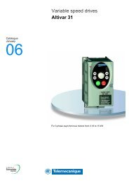 Variable speed drives Altivar 31 - Telmak