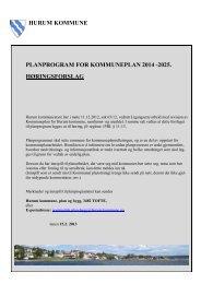 hurum kommune planprogram for kommuneplan 2014 -2025 ...