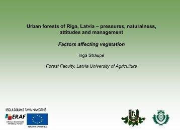 Urban forests of Riga, Latvia – pressures, naturalness ... - maplas