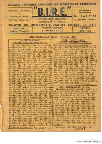 BIRE NR. 12(138) - arhivaexilului.ro