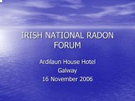 IRISH NATIONAL RADON FORUM