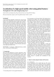 Localization of a high-speed mobile robot using global features ...