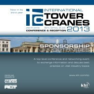 TOWER CRANES - KHL Group