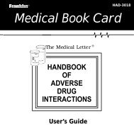 Medical Book Card - Franklin Electronic Publishers