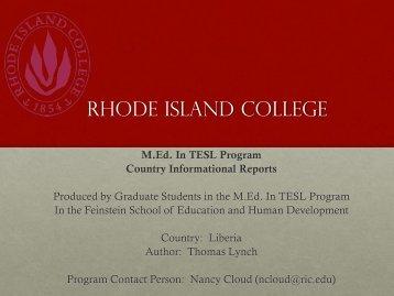 Liberia - RITELL